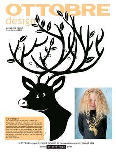 Reindeer print Ottobre