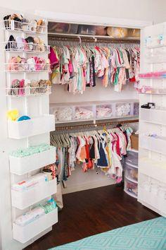 Best Ideas for baby nursery closet organization diy storage ideas Small Nursery Organization, Toddler Closet Organization, Organization Ideas, Storage Ideas, Baby Storage, Storage Bins, Kids Storage, Closet Organisation, Diaper Organization