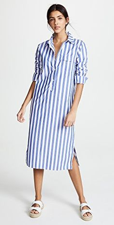 Find and compare Stateside Oxford Button Down Dress across the world's largest fashion stores! Black White Striped Dress, Striped Shirt Dress, Long Shirt Dress, Button Down Dress, Cute Dresses, Casual Dresses, Desi Wear, Stylish Shirts, Stripes