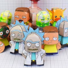 Rick and morty paper toys free downloadable paper crafts for Rick and morty craft list