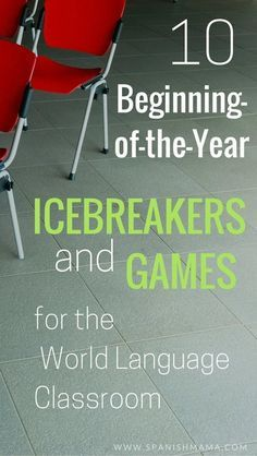 10 Awesome Icebreakers for High School Spanish Classrooms 10 Beginning-of-the-Year Icebreakers and Games {in the World Language Classroom}. Need some good low-pressure, community-building activities to start off the year? Teaching French, Teaching Spanish, Teaching English, Spanish Teacher, First Day Activities, Spanish Activities, Spanish Games, Vocabulary Activities, Spanish 1