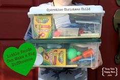 Packing Boxes for Operation Christmas Child - making them look great on a budget