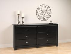Black Kallisto 6 Drawer Dresser