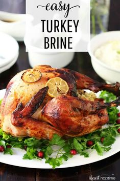 This basic turkey brine recipe will teach you how to brine a turkey - the easy way! Takes just 3 simple ingredients and is failproof. This is the best turkey brine for beginners and makes a great Thanksgiving dinner! Turkey Recipe For Beginners, Best Turkey Recipe, Easy Turkey Recipes, Thanksgiving Recipes, Holiday Recipes, Thanksgiving Punch, Holiday Meals, Thanksgiving Turkey, Christmas Recipes