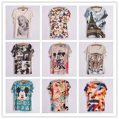 Quality T-Shirts with free worldwide shipping on AliExpress Shirt Printer, White Shirts Women, Quality T Shirts, Four Seasons, Dress Outfits, Digital Prints, Tee Shirts, Free Shipping, Clothes For Women