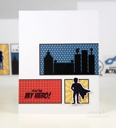 You're My Hero Card by Lexi Daly for Papertrey Ink (May 2015)