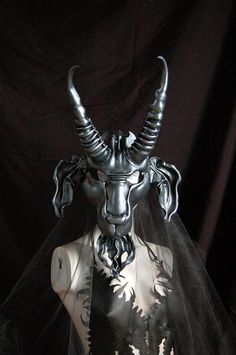 Leather mask of Baphomet