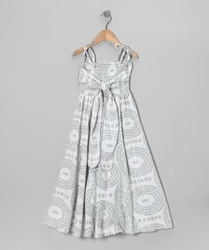 Take a look at this Gray Tribal Smocked Jersey Infinity Dress - Girls by Infinity for Girls on #zulily today!