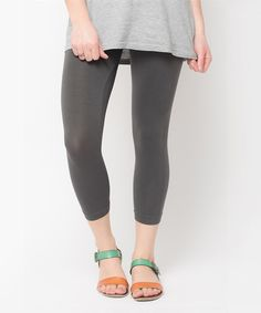 Look at this Caralase Charcoal Capri Leggings on #zulily today!