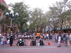The buskers on the mall in Downtown Boulder, CO