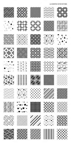 Abstract Geometric Vector Patterns by DESIGN BY nube on @creativemarket