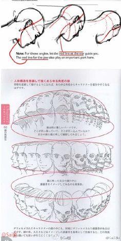 #绘画学习# 如何画出不同角度的脸,参考练习~
