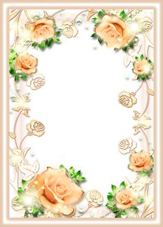 Beautiful Delicate Cream Frame with Roses