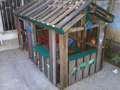 Playhouse Made From Pallets