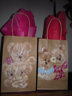 Hand Painted Bags by Elvira Nell Mom and Dad, and Dad and the kids.