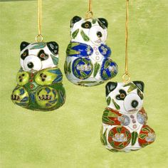Cloisonné Panda Ornaments
