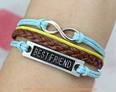 best friend bracelet,infinity karma bracelet,brown leather bracelet ,best sincere gift for friend.-N727 Ordered it:) it's shipping from China!