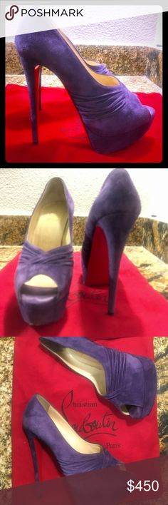 Christian Louboutin Purple Suede Purple suede Christian Louboutin's • 140mm height • I've worn them 3 times • Good condition! • Christian Louboutin Shoes Heels