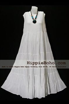 Summer Clothes Bohemian - No 005 Plus size Gauze Dresses White Cotton Maxi Long Dress Bohemian Summer Clothing Tiered Full Length Women's Dress Hippie Boho Gypsy Style. Boho Gypsy, Hippie Boho, Gypsy Style, Bohemian Style, Bohemian Summer, Hipster Outfits, Boho Outfits, Dressy Dresses, Nice Dresses