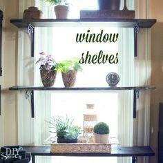 DIY Window Shelves for Plants - DIY Show Off ™ - DIY Decorating and Home Improvement Blog