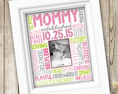 MOMMY GIFT FRAME New Mommy Gifts First Mothers Day Happy