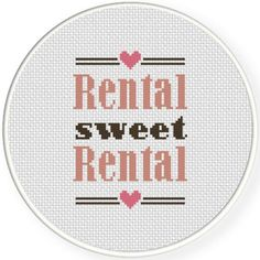 FREE for June 5th 2015 Only - Rental Sweet Rental Cross Stitch Pattern