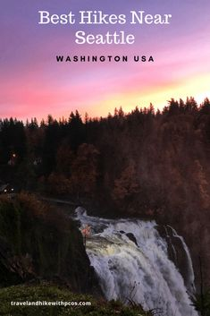 Seattle is booming metropolis very close to beauty of mother Nature. There are incredible hiking trails that could be enjoy year around. Hiking Spots, Hiking Trails, Franklin Falls, Snow Lake, Snoqualmie Falls, Hiking Essentials, Twin Falls, Alpine Lake, Travel Destinations