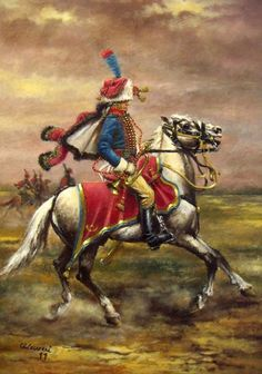 L'arret de la trompette. Tromba dei Cacciatori a Cavallo della Guardia in grande tenue de service 1804 – 1805 Omaggio a Edouard Detaille