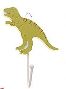 Lovely Garderobenhaken Wandhaken aus Holz Dino gr n T Rex Deko f r ein Dinosaurier
