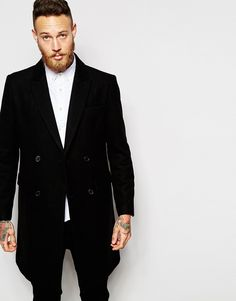 ASOS Double Breasted Overcoat In Black [$180 + 30% off]
