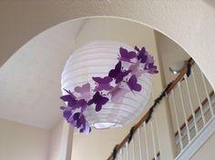"8"" Purple Rain, paper lantern, butterfly lantern, princess room decor, butterfly party, butterfly birthday, hanging lantern, butterfly decor on Etsy, $14.23 AUD"