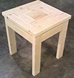 2x4 end tables made from scrap left over pieces Boards are screwed
