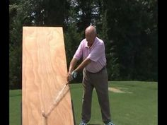 PGA Master Professional Charlie Sorrell demonstrates the golf swing in a unique and entertaining manner. Golf Driver Swing, Golf Drivers, Crazy Golf, Crazy Crazy, Back Strengthening Exercises, Golf Practice, Golf Instruction, Perfect Golf, Household Cleaning Tips