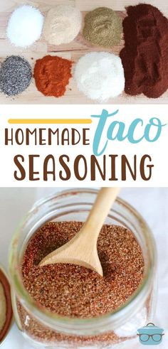 diy taco seasoning This gluten-free Homemade Taco Seasoning recipe is the perfect balance of flavors. Control what goes into your food with this easy and mild seasoning. Taco Seasoning Mix Recipe, Low Carb Taco Seasoning, Taco Seasoning Packet, Seasoning Mixes, Homemade Spices, Homemade Seasonings, Homemade Tacos, Country Cooking, Mexican Food Recipes