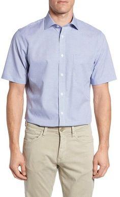 Nordstrom Regular Fit Non-Iron Sport Shirt (Big)