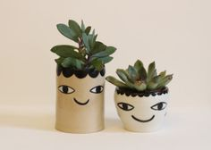 Bipolar Cache-pot - hanging planter  - ceramic - one of a kind on Etsy, 342:86kr