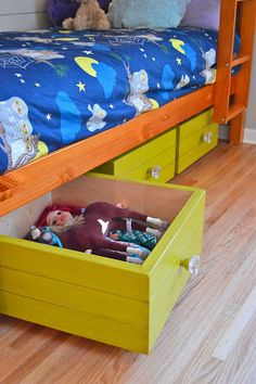 Rolling Toy Boxes Made From Drawers :: Hometalk