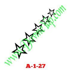 Yıldız Geçici Dövme Şablon Örneği Model No: A-1-27