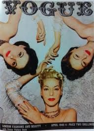 1940's cover of Vogue.  Classic beauties.