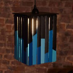 A simple hanging light fixture to make from lattice, birch plywood, and square dowels. Looks easy enough, and very inexpensive!