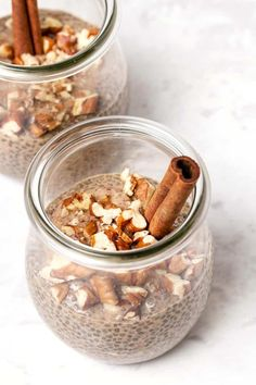 Chai Latte Chia Pudding - 3 tablespoons black chia seeds 2 tablespoons coconut sugar (sub stevia/erythritol/SF syrup). Chia Pudding, Pudding Flavors, Pudding Recipes, Dessert Recipes, Pudding Ingredients, Delicious Desserts, Good Healthy Recipes, Healthy Breakfast Recipes, Healthy Foods To Eat