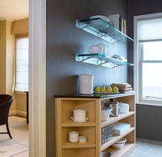 Buy glass shelf brackets / tempered glass shelves / bathroom corner glass shelf - shandonglinrui Glass Shelf Brackets, Tempered Glass Shelves, Kitchen Shelves, Bookcase, Factories, Bathroom, Kitchen Ideas, Corner, China