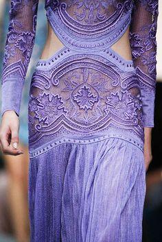 Beautiful Fashion Details...Roberto Cavalli.
