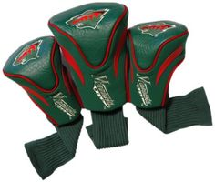 NHL Minnesota Wild 3 Pack Contour Headcovers by Team Golf. $36.51. Set includes 3 stylish contoured headcovers with innovative materials and sleek design-numbered 1,3 and X. The No.1 fits all oversized drivers and the nylon sock protects shafts from damage. 3 location team embroidery.. Save 26% Off!