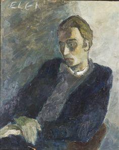 Elga Sesemann (Finnish, 1922-2007), Portrait of Seppo Näätänen, 1940s. Oil, 78 x 64 cm. Seppo Näätänen (1920-1964) was a Finnish painter and Elga Sesemann's husband.