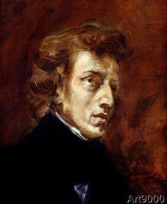 Eugène Delacroix - Frederic Chopin (1810-49) 1838