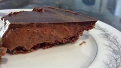 Political Nutrition: Low Carb Chocolate Topped Almond Butter Mousse Pie