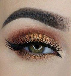 Pin Up Liner + Lashes + Orange & Satin Eyelid + Copper Crease