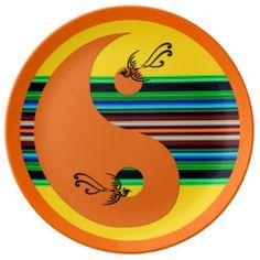 Yin Yang J Porcelain Plate