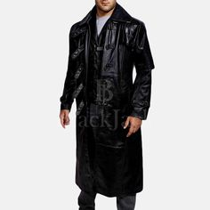 Huntsman Black Hooded Leather Trench Coat – Men's & Women's Clothing Store | Black Jack Leathers Leather Trench Coat Mens, Black Leather Bomber Jacket, Custom Leather Jackets, Womens Clothing Stores, Women's Clothing, Mens Winter Coat, Vest Coat, Collar Styles, Jack Black